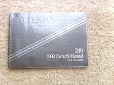 Volvo 1990 240 Owners Manual, US and Canada Owner Manual