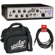 Aguilar Tone Hammer 500 Watt Superlight Bass Amplifier Head w/ Carry Bag & Cable
