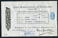 Dated Feb 1948. Receipt from The Life Association of Scotland - Gravesend