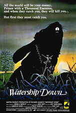 WATERSHIP DOWN Movie POSTER 27x40 Richard Briers Ralph Richardson Zero Mostel