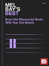 Mel Bay's Best Drumset Manuscript Book