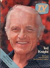 Chicago Tv Week Guide~Ted Knight~Pernell Roberts~Bonanza~Koppel~Trapper John MD