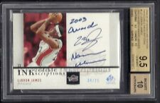 LEBRON JAMES 2004-05 SP SIGNATURE INSCRIPTIONS AUTO NAISMITH 2003 BGS 9.5 /25