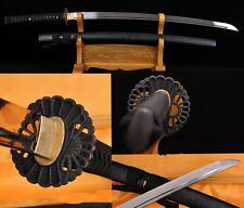 Hand Forge Japanese Samurai Sword Katana High Carbon Steel Iron Fitting Sharp#88