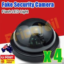 4X Wireless Fake CCTV Dome Dummy Camera Security Surveillance Flashing LED Light
