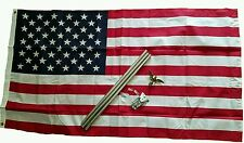 New 3'x5' American Flag Pole House mount Made in USA Eagle USA 4th of July