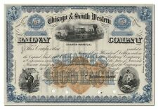 Chicago & South Western Railway Company Stock Certificate (RN-U1 Revenue)