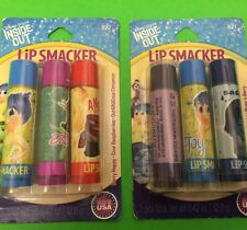 6 Lip Smacker Lip Balms ~ Disney Inside Out Collection RARE ~ Free Gift