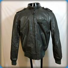Vtg 80s MEMBERS ONLY Cafe Racer Leather MOTORCYCLE Biker JACKET Mens 40 M Gray