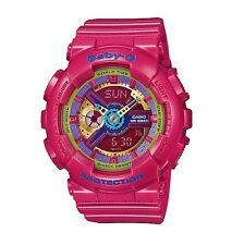 Casio Baby-G * BA112-4A Anadigi Gloss Metallic Pink for Women COD PayPal MOM17