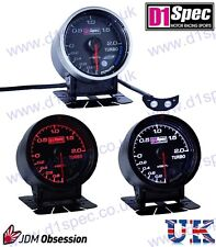 D1 SPEC UNIVERSAL TURBO BOOST GAUGE 2 BAR 52mm BLACK Dial JDM RACING RALLY DRIFT