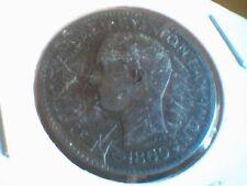 COLECCIÓN: GRECIA BELLOS 10 LEPTAS BRONCE AÑO 1869 BUENA PATINA EN (MBC)