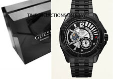NEW GUESS DYNAMIC AUTOMATIC BLACK PVD BRACELET MENS WATCH W0047G1 U0047G1 DATE