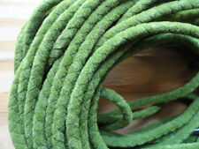 """Bolo Cord 36"""" ARMY GREEN suedette (pkg 12) 0845 Plasticized Tips 4mm thickness"""
