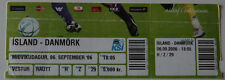 old TICKET EURO 2008 q * Iceland - Danemark in Reykjavik