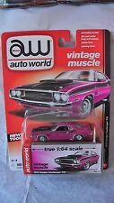 AUTO WORLD VINTAGE MUSCLE 1/64 1970 DODGE CHALLENGER T/A PINK NEW #4