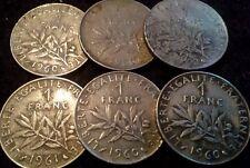 5+1 pièces 1frs SEMEUSE 1960(5)+1961(1)