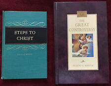 Ellen G White Duo: Steps to Christ 1956 ~ The Great Controversy 2005 HB EGW SDA