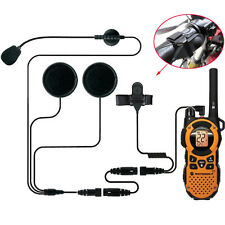 1 PIN Motorcycle Half Helmet Headset Earpiece For MOTOROLA Radio FRS GMRS A269