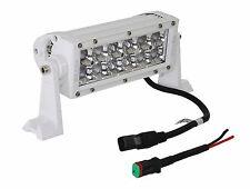 """White 3D 36w Light bar LED 7"""" spot rv camper boat porch deck aft docking marine"""