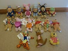 "Bundle Of 15 - 8"" Winnie The Pooh Bean Bags Plush's/Soft Toy's"