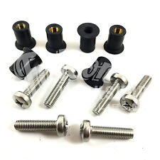 M5 NEOPRENE WELL NUT & STAINLESS PAN POZI SCREW - PACK 6, KAYAK WATER SPORTS