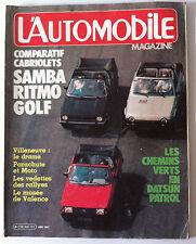 L'AUTOMOBILE du 06/1982; Comparatif Cabriolets/ Datsun Patrol/ W 124 Mercedes
