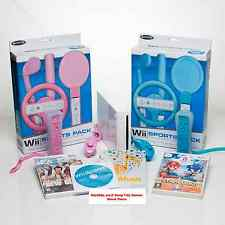 Wii Console OLYMPIC bundle complete set=5 top games Mario/Dance/Sport=Boys+Girls
