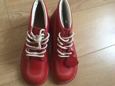 New red kickers hi top leather boots ladies size 7