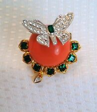 Vintage Kenneth Jay Lane Treasures of the Duchess brooch signed KJL Butterfly