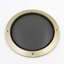 "​1PC 185mm 6.5"" Speaker Panel Coaxial Steel Sub Mesh Grills Gold Cover"