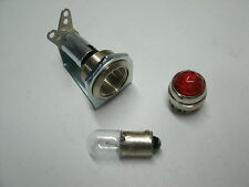 Tube amp pilot light assembly, jewel, and #47 bulb,  red jewel, USA made