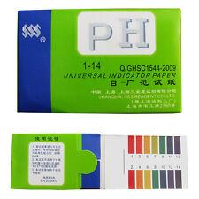 80 Pcs 1-14 pH Universal Indicator Test Strips Paper Body Water Soil Food  New