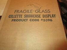"Gillette ,Counter Top Display Unit , 18"" X 151/2"" X 41/2"" , New In Box , Vintage"