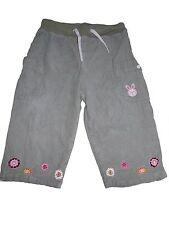 H&M increíbles Pantalones De Pana Talla 80 verde con Bordado de la flor