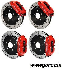 """Wilwood Disc Brake Kit,05-13 Chevy Corvette C-6,13""""Drilled Rotors,Red Calipers"""