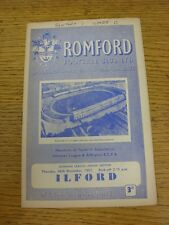 26/12/1957 Romford v Ilford  (Writing On Front). Unless stated previously in the