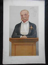Original Victorian Vanity Fair Print of Mr Bernard John Angle by FGC, 5/4/1890