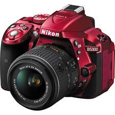 Nikon D5300 24.2 MP Digital SLR Camera Red with 18-55mm VR II AF-S DX Lens