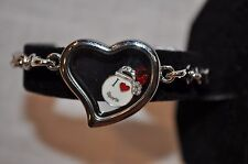 MAGNETIC FLOATING CHARM HEART LOCKET BRACELET WITH MUSIC CHARMS