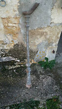 Ancien départ d'escalier en fonte - Rampe