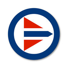 2 x Royal Norwegian Air Force Roundels- Military vinyl car, van decal sticker