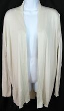 BANANA REPUBLIC Size XL Ivory Merino Wool Blend Open Front Long Cardigan Sweater