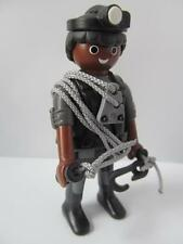Playmobil Swat team/Special forces black police figure with climbing ropes NEW