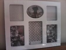 Brand New 6 Multi Aperture White Photo Frame