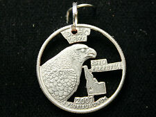 Idaho U.S. quarter cut out coin pendant