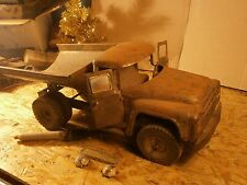 VINTAGE RARE MODEL USSR RUSSIAN LARGE TIN TOY ZIL DUMP TRUCK