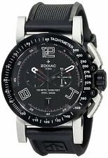 Zodiac ZMX Men's ZO8552 Racer Stainless Steel Swiss Watch with Black Rubber Band