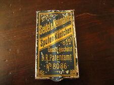 La pubblicità Seidel & Naumann BOBINE-caselle PIASTRA 1900