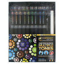 Chameleon Color Tones Deluxe Set Of 22 Double-Ended Brush Pens